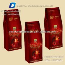 Saco de café de alumínio com válvula / 1 kg Saco de café de vácuo de folha de alumínio
