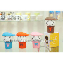 KC-00981 ceramic coffee mug without handle,with silicone lid,