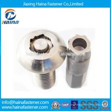 China Proveedor En la acción YJT T 14581-201 Cabeza de la cacerola del acero de carbón / de acero inoxidable El perno antirrobo con el docroment / la superficie plateada cinc