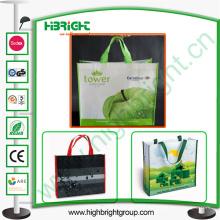 Polyester sac à provisions pliable Sac à provisions personnalisé en gros