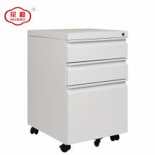 2018 modern metal 3 drawer pedestal mobile storage cabinet
