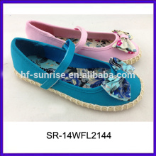 SR-14WFL2144 la cuerda hermosa del cáñamo de las muchachas calza a cabritos los zapatos de los cabritos del vestido calza los zapatos al por mayor