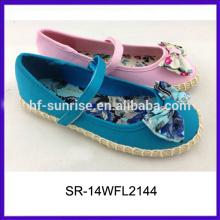 SR-14WFL2144 beautiful girls hemp rope shoes kids girls dress shoe kids shoes wholesale
