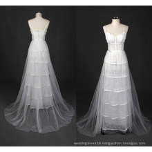 Real Tulle A Line Beach Wedding Dress Wy7322
