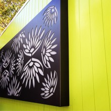 laser cut outdoor metal wall art