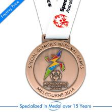 Hochwertiges Messing überzogene Medaille für spezielle Olympische Spiele