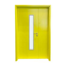 Factory Direct Hospital Patient Room Door Unequal Double Steel Door With 99% Safety