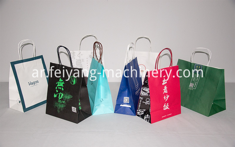 Red Color Twisted Paper Cord Bag Handles