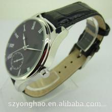 Haute qualité japon movt étanche homme montre avec bracelet en cuir