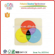 Color mixing learning board children's educational wooden puzzles