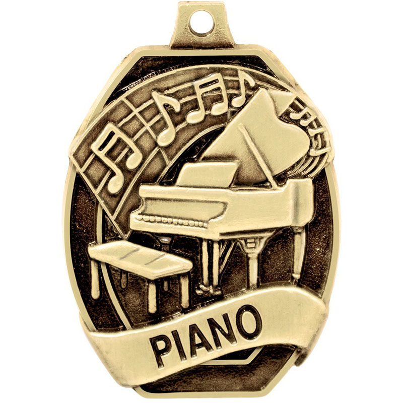Gold Piano Medal For Music