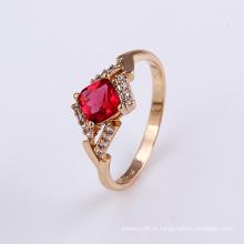 Top Design Lindo Cristal Ouro Jóias Anel de Dedo Design para Mulheres -11824