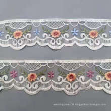 New style net knit embroidery lace trim 6.5CM