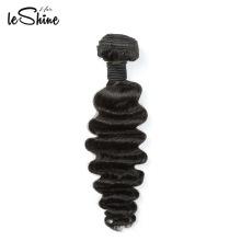 Leshine Gold Hair Vendor Cuticle Alinhado Cabelo Virgem Malaio Remy Profunda Extensão Do Cabelo Da Onda