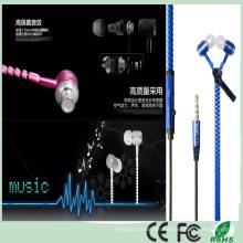 Super Bass Stereo Metal Headphone Zipper Earbuds (K-916)