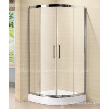 Sala de banho temperada de vidro temperado de 8 mm com moldura de aço inoxidável (LTS-022)
