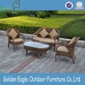 4pcs Outdoor Leisure Rattan Sofa with Table