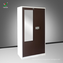 Customized double color modern bedroom storage wardrobe design steel furniture China wholesale