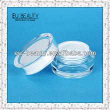 Runde Acryl Creme Jar Kosmetik Verpackung Gläser 30g