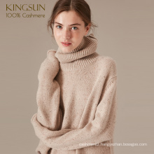 Warm Fashion Nep Yarn Cashmere Woman Sweater Pullover Tops