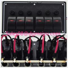6-Gang-LED-Marine-Boot-Brücke Control Rocker Switch Panel mit Sicherung und Indikator