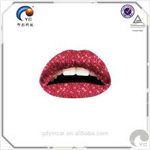 Autocollant temporaire non-toxique adapté aux besoins du client de tatouage de décoration de lèvre sexy