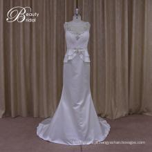 Romântica vestidos de casamento do laço volta Formal pura