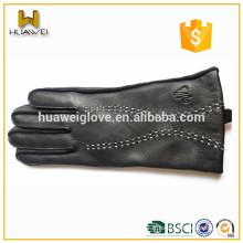 Gants en cuir personnalisés et en cuir mouton d'hiver pour hommes de Lixian