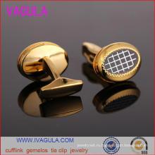 VAGULA качество золота покрытием Мужские рубашки манжеты Gemelos Запонки (L51918)