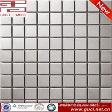 Telha de mosaico de aço inoxidável quadrado para sala de estar TV fundo parede
