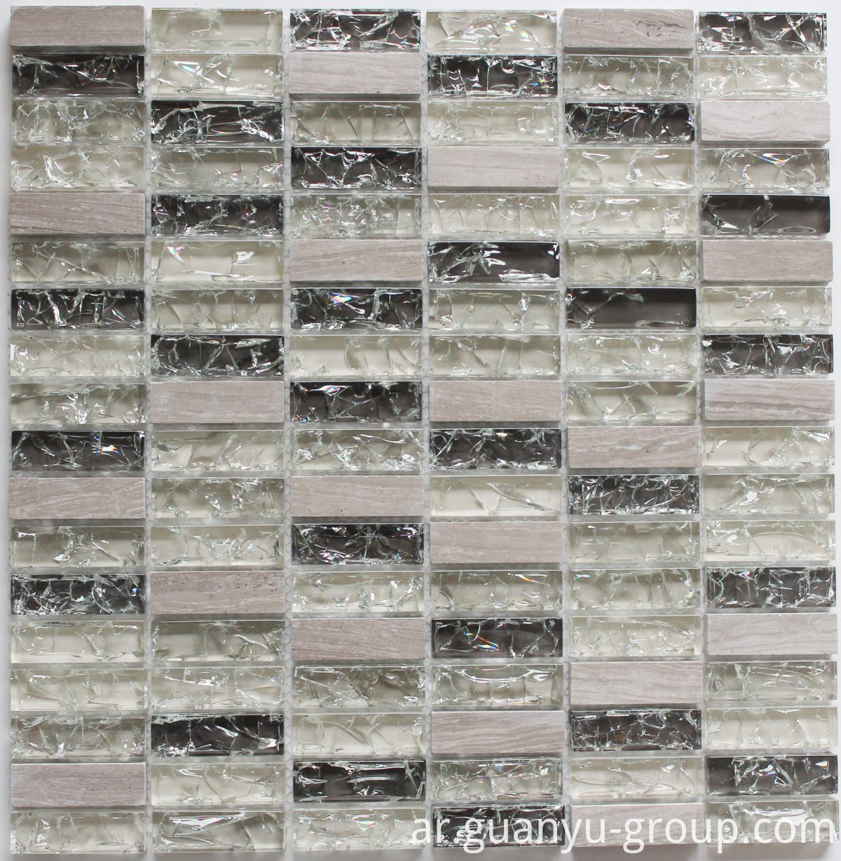 Cracked Glass And Marble Mosaic BL8502