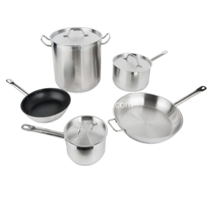 Set Peralatan Masak Stainless Steel 16 pcs