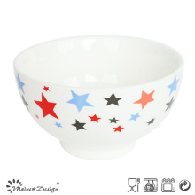13cm New Bone China with Decal Rice Bowl