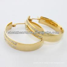 China fornecedor, brinco de aço inoxidável banhado a ouro 2014 moda, brinco Tailândia