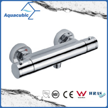 Bathroom Thermostatic Chrome Round Exposed Bar Mixer Shower Valve (AF4202-7)