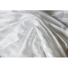Tela de satén polivinílica del diseño a rayas con brillante para la ropa