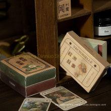 European Story Design Mini Box Sticker for Stationery Decoration