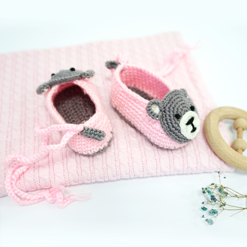 Animal Crochet Baby Shoes