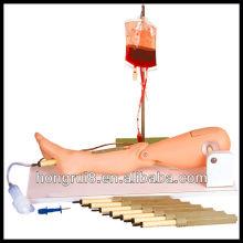 Simulador de perna de medula óssea e simulações de medula óssea ISO, modelo de perna de enfermagem