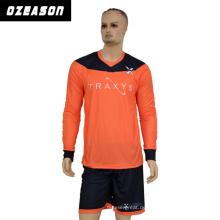 Hochwertiges kundenspezifisches sublimiertes Fußball-Großhandelshemd / Fußball Jersey / Torhüter-Uniform