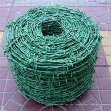 Arame farpado galvanizado e galvanizado mergulhado quente do PVC / arame farpado barato