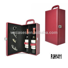 New arrival leather wine box for 2 bottles high quality manufacturer