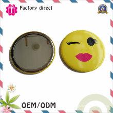 Miroir de maquillage en gros bon marché miroir de poche personnalisé / miroir compact