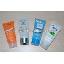 skin whitening cream plastic cosmetic tube with stand up cap