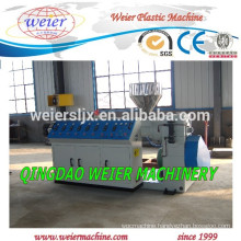 Supply the Double screw extruder machine for PVC profile manufacture