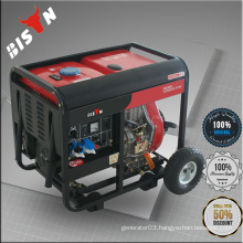 BISON CHINA TaiZhou South Africa Electric Start Portable Diesel 5kw Generator Motor Three Phase