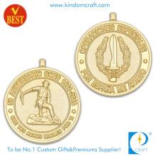 Alta Qualidade Personalizado 3D Ambos Medalha de Aniversário de Chapeamento De Ouro Lado em Liga de zinco