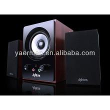 Alta calidad altavoz multimedia de madera 2.1