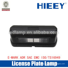 LED Offroad license plate lamp with E-MARK truck license plate lamp number plate light