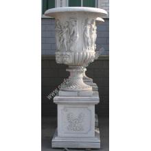 Urna de mármol para piedra de jardín (QFP190)